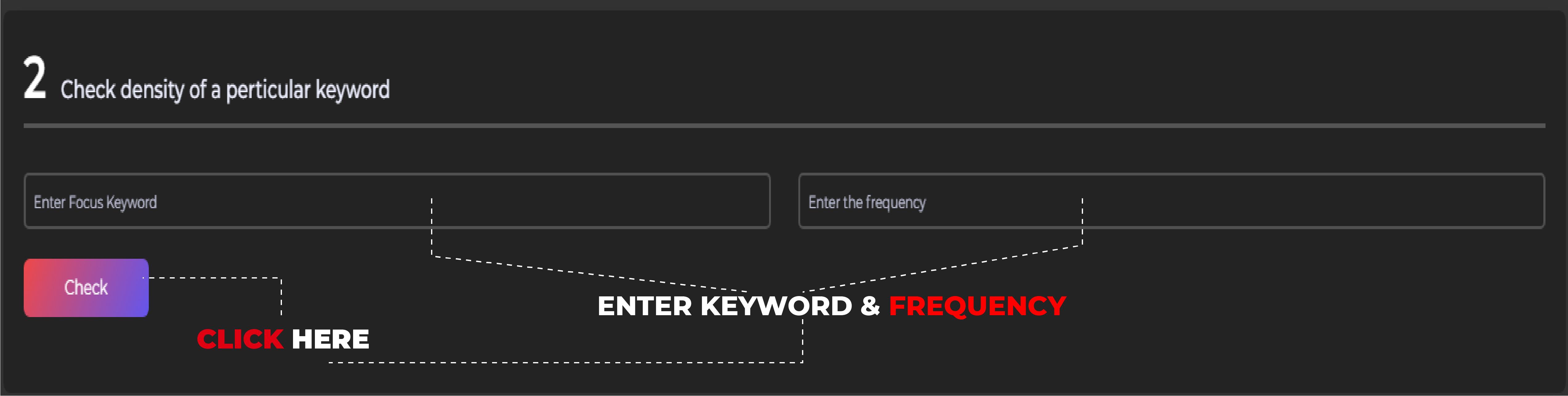check keyword